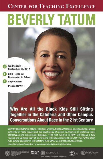 Poster for Beverly Tatum talk