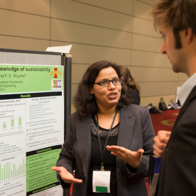 Bhavna Sharma presents her Teaching as Research project at a CIRTL Forum