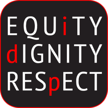 "Cornell IDP logo reading ""equity, dignity, respect"""