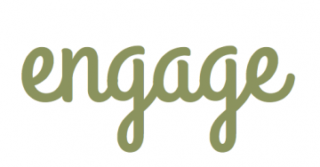 "The word ""engage"" in script handwriting"