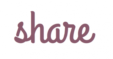"The word ""share"" in script handwriting"