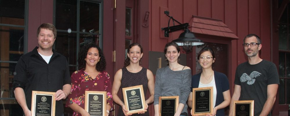 From, left, postdocs David Toews, Ana Maria Porras, Elizabeth Day, Tisha Bohr, Susan Cheng and Oliver Bracko.