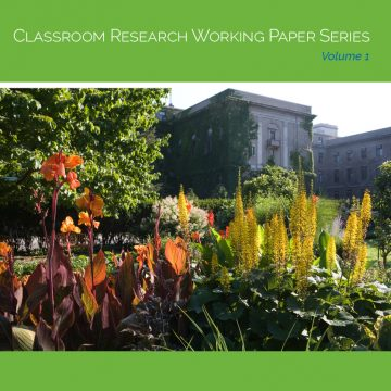 Cover image of a building, reading Classroom Research Working Paper Series, Volume 1