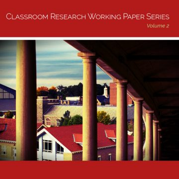 Cover image of a stadium, reading Classroom Research Working Paper Series, Volume 2
