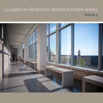 Cover image inside Physical Sciences Building, reading Classroom Research Working Paper Series, Volume 3