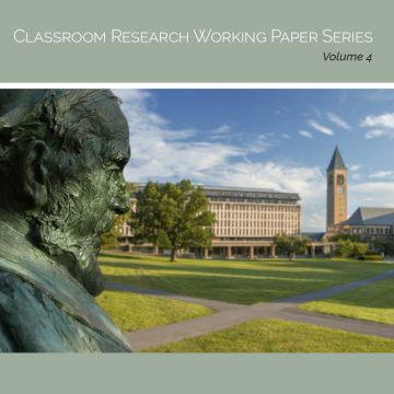 Cover image of the Arts Quad, reading Classroom Research Working Paper Series, Volume 4