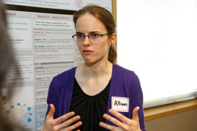 Allison Truhlar presents early results of her research as a poster in 2016