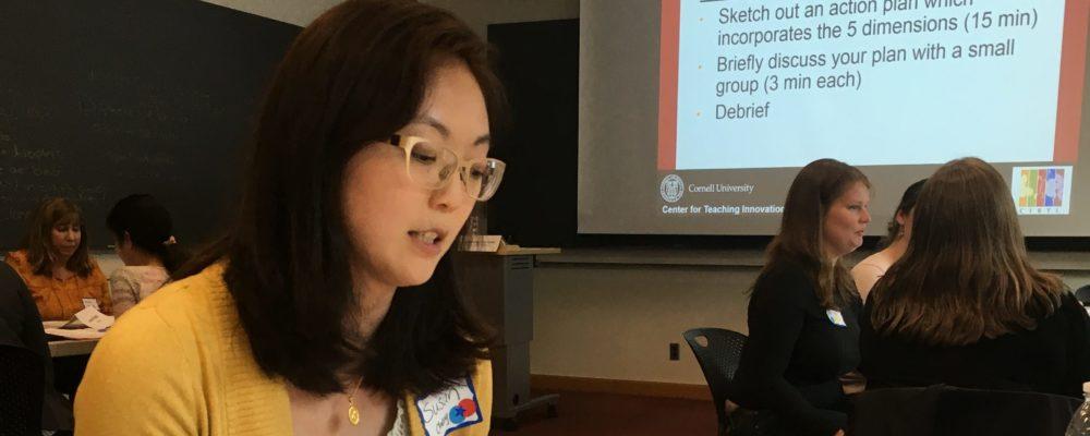 Susan Cheng plans her teaching
