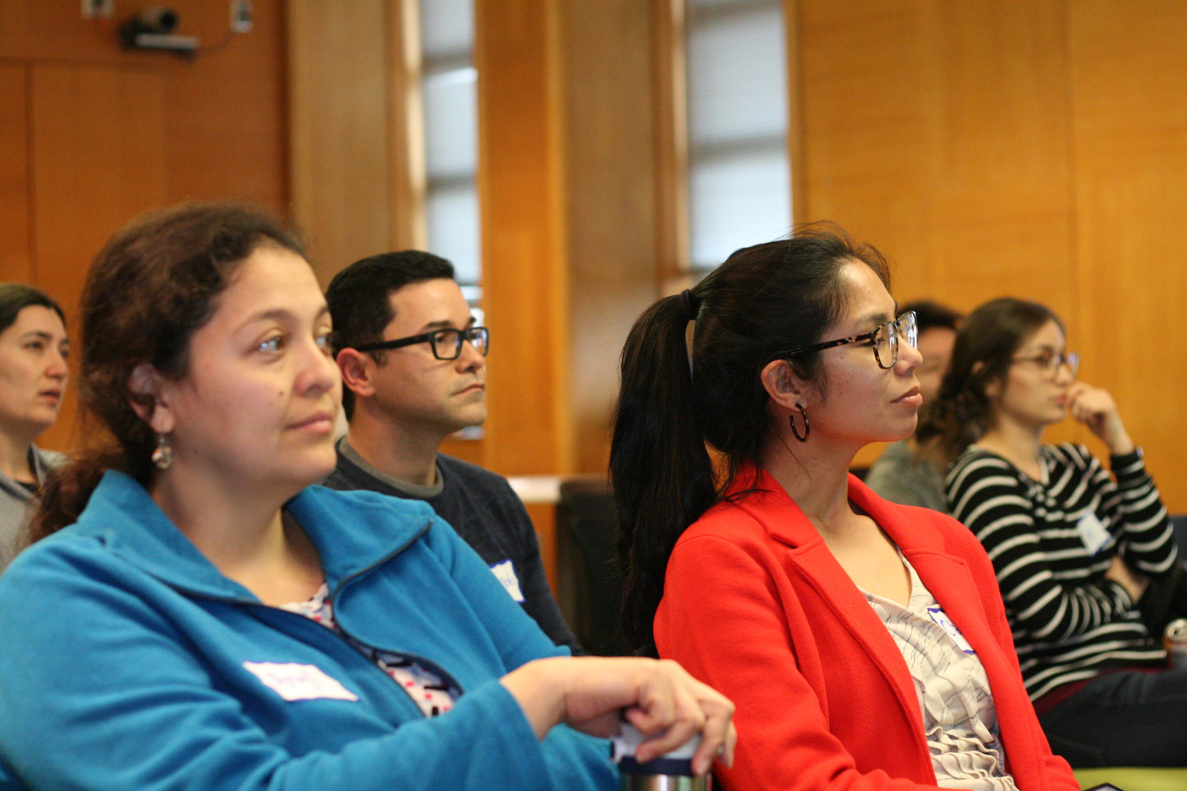 Students and postdocs at a NextGen meeting