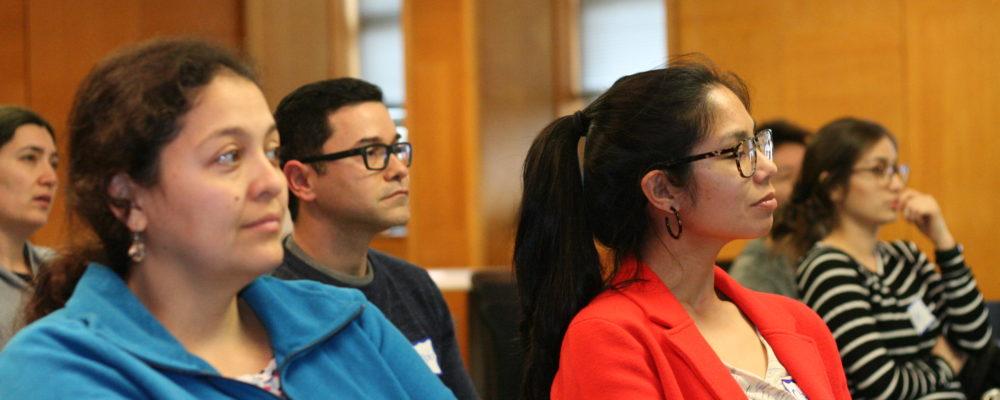 NextGen Professors listen to a speaker in spring 2019