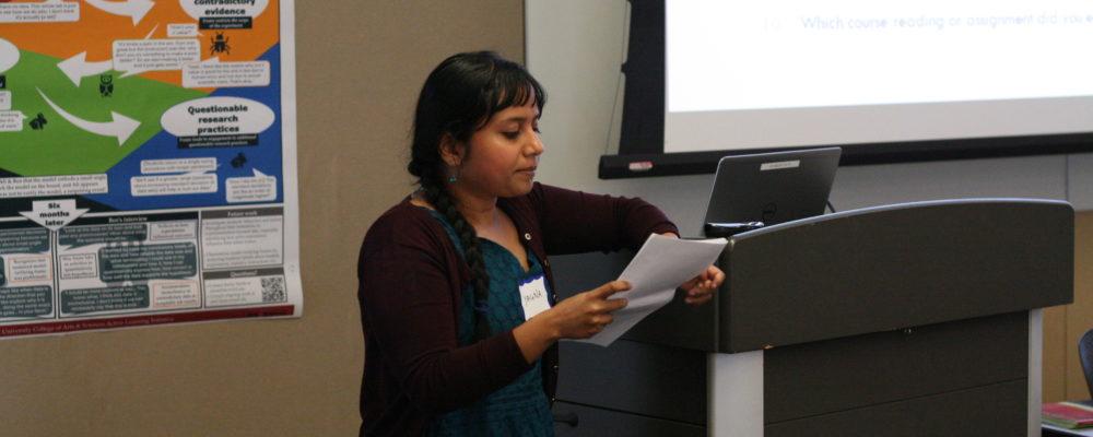Yagna Nag Chowdhuri presents research on teaching