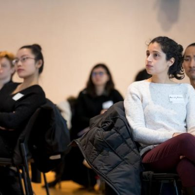 Participants listen to presentations at the winter 2019 Pathways to Success event