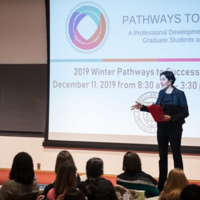Eliza VanCort presents at the Winter 2019 Pathways to Success Symposium