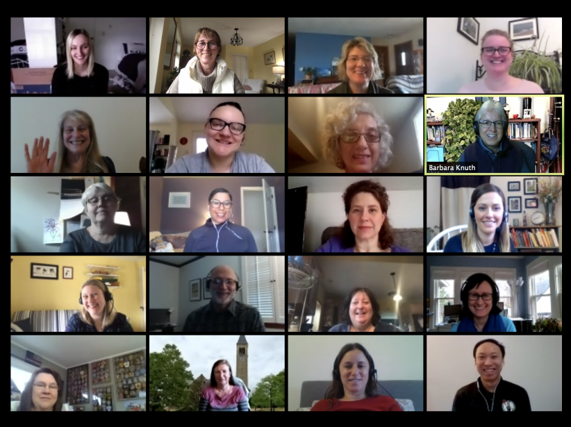 Graduate School staff meeting by Zoom conference