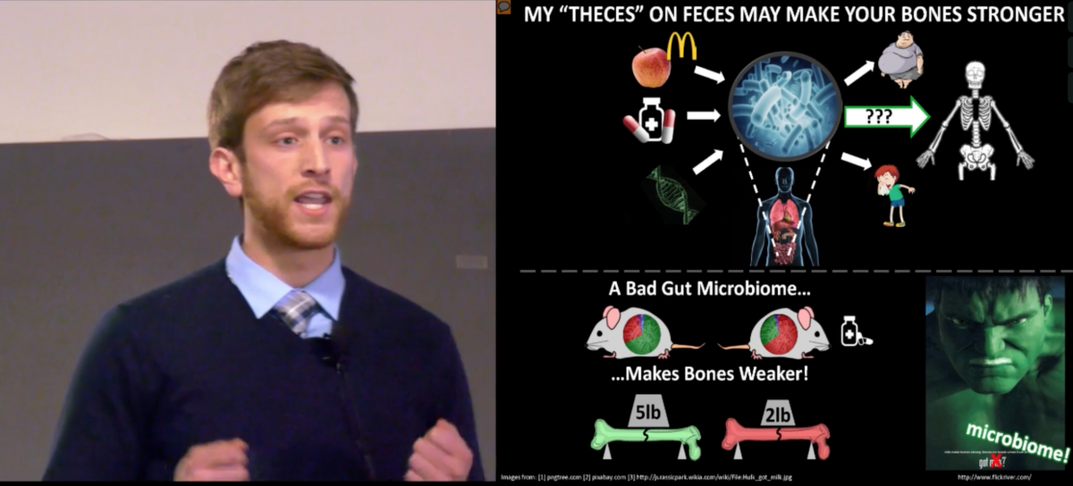 Jason Guss presenting his three-minute thesis