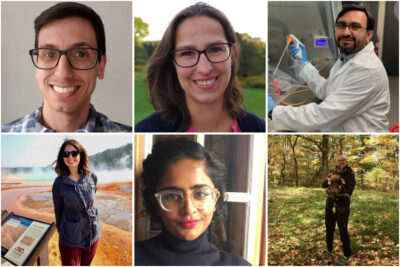 Collage of six photos of postdoctoral scholars